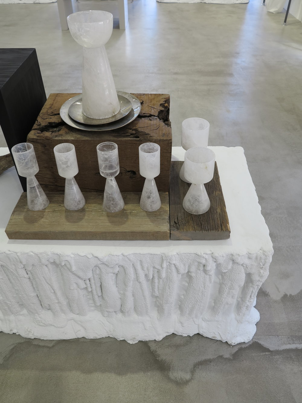 Rick Owens  new goblets and tableware shown in store