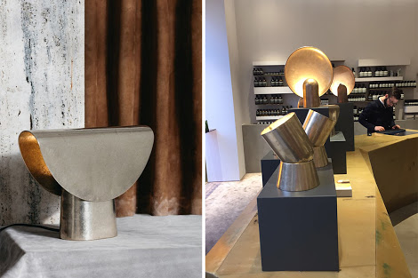 Cast impressions by Henry Wilson displayed at Aesop.
