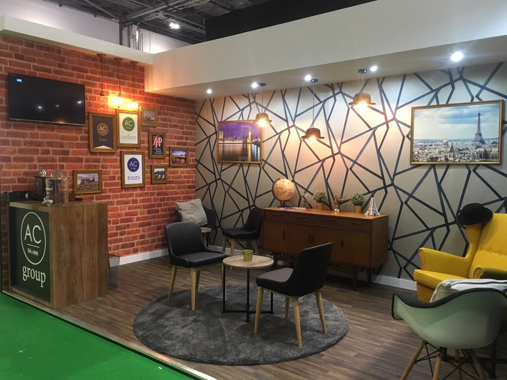 AC Group exhibition stand at World Travel Market