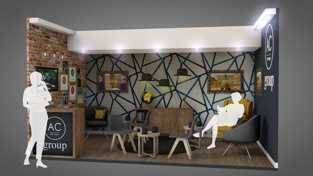 AC Group at World Travel Market. Design Visual.