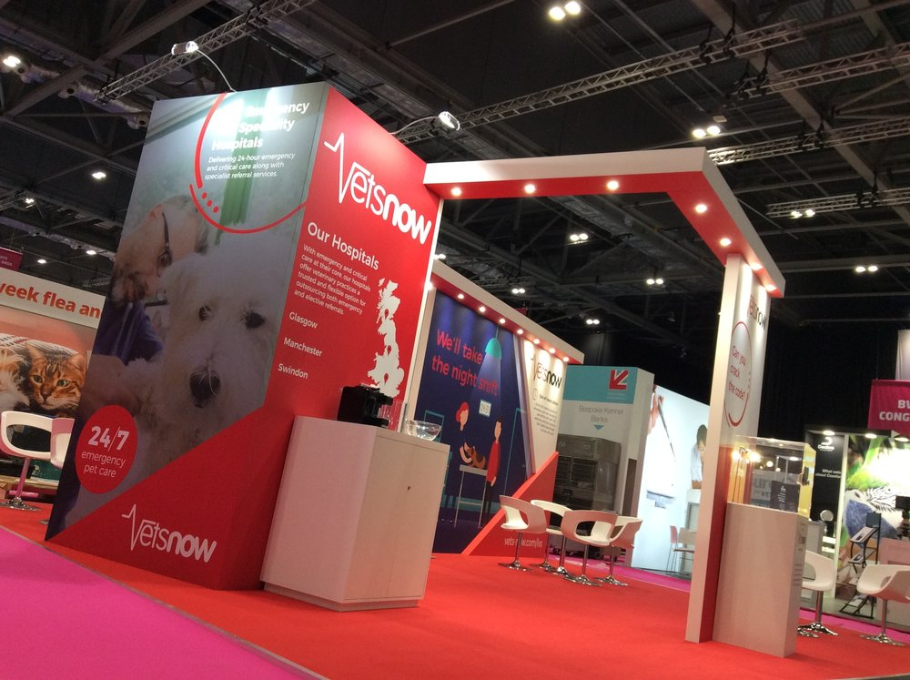 Vets Now Exhibition Stand at London Vet Show