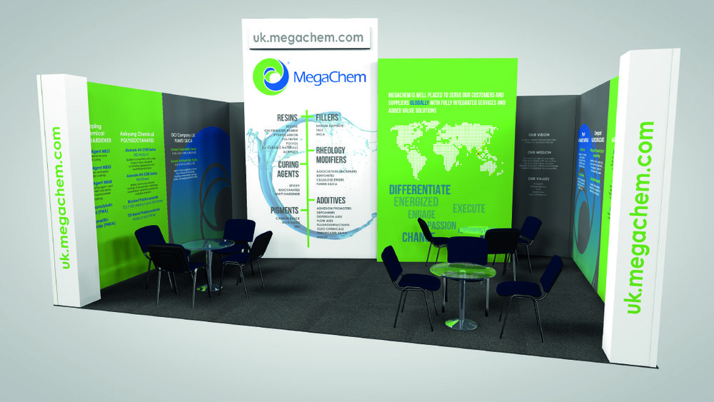 Megachem Exhibition Stand at European Coating Show