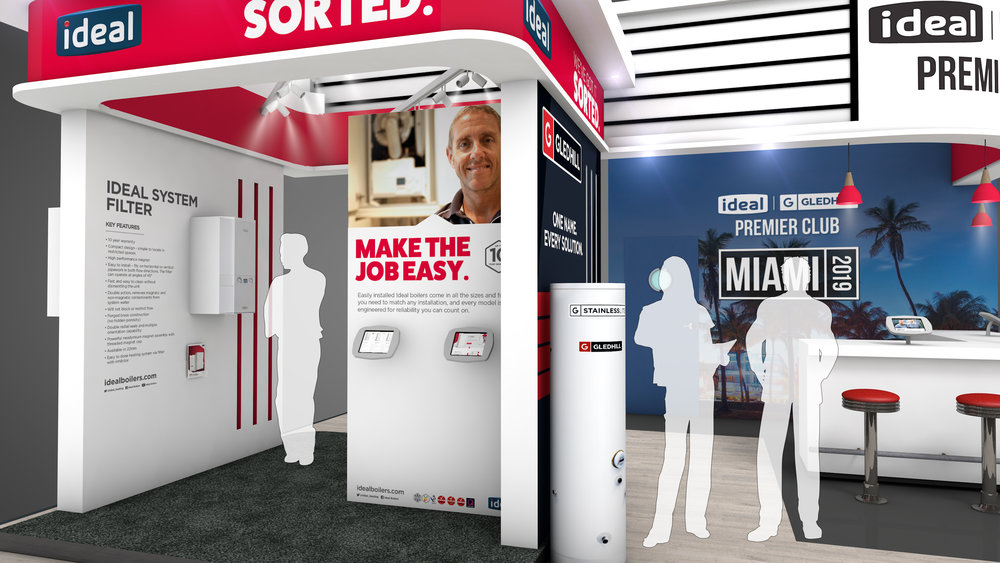Ideal and Gledhill Exhibition Stand