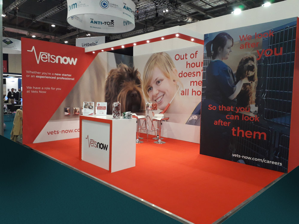 Vets Now Exhibition Stand at LVS 2018