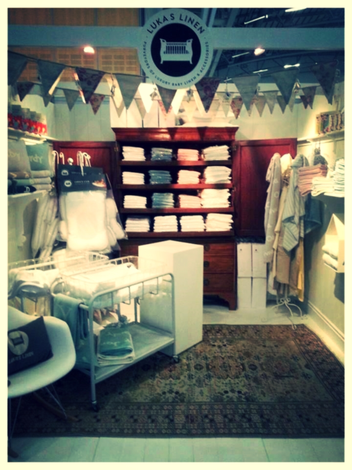 This was the Luka's Linen stand at the Baba Indaba this year!