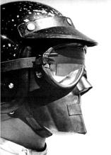 First full-faceracing helmet from Bell Helmets