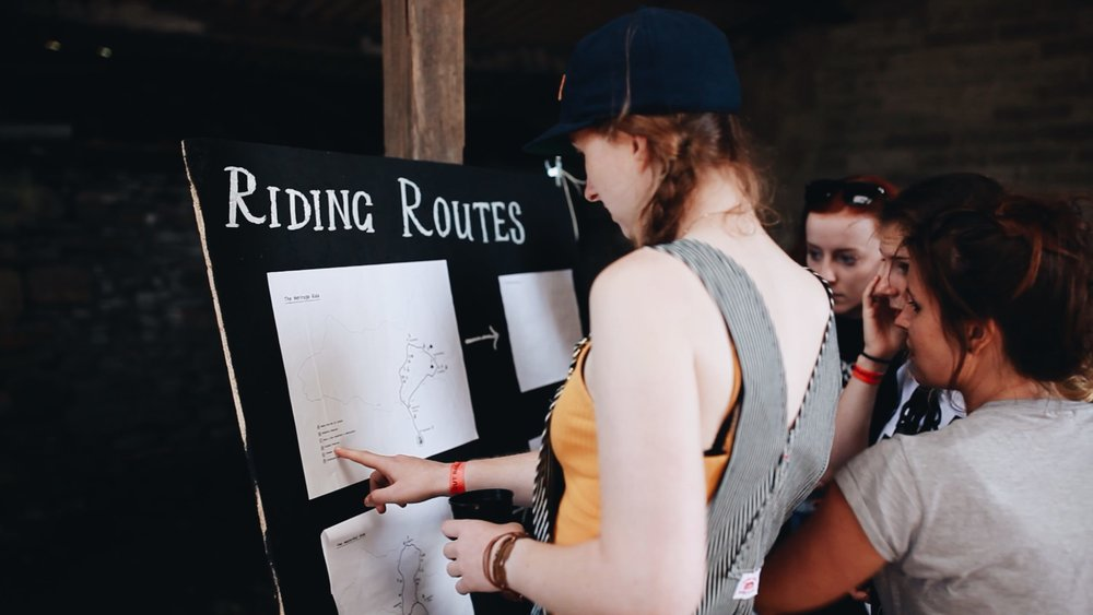 Signing up for the group rides