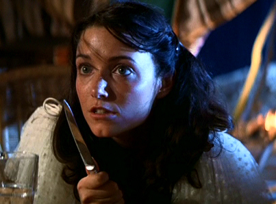 Marion Ravenwood - still from film  Raiders of the Lost Ark  (1981)