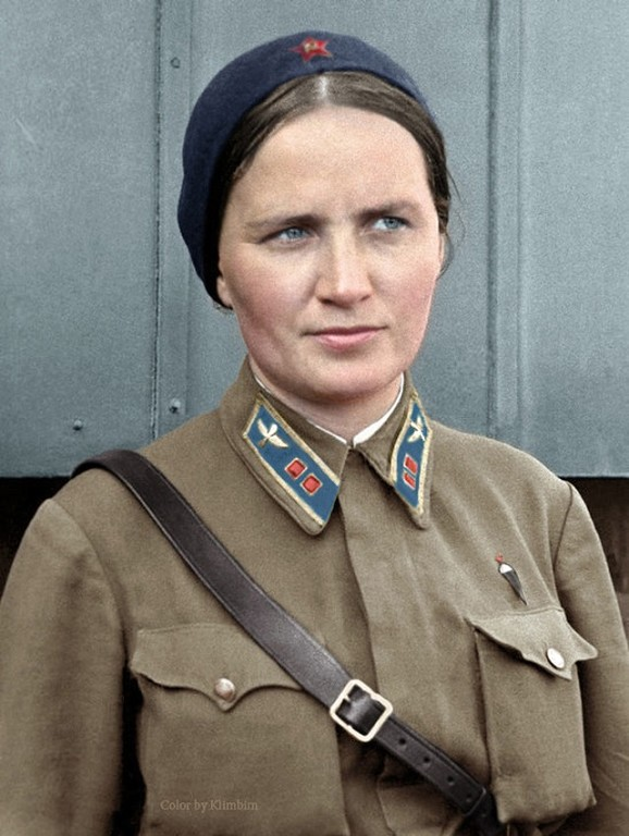 Marina Raskova (1912-1943), one of only three of the first women to be awarded with The Hero of the Soviet Union prior to World War II.