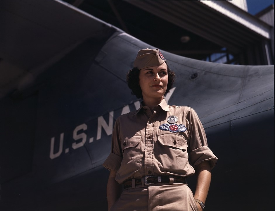 Eloise J. Ellis at Naval Airbase Corpus Christi, Texas. Photographer: Howard R. Hollem