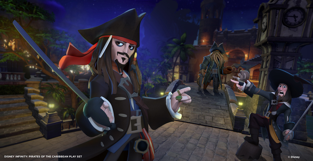 Jack Sparrow and the playset villains.