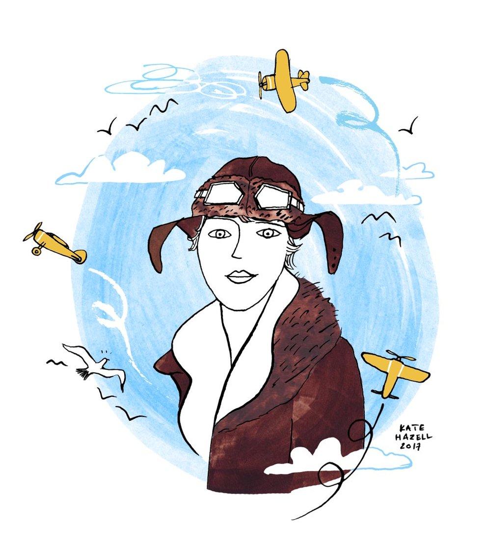Amelia Earhart portrait