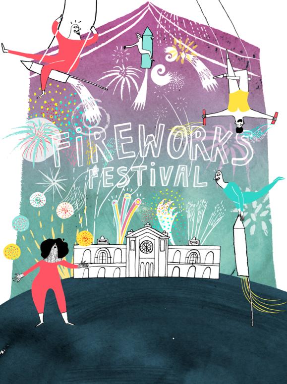 Fireworks festival poster