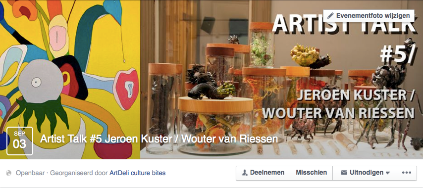 Op 3 september is er een artist talk tussen Wouter van Riesen en Wilco Tuinebreijer in Art Deli. Hierop wordt ingegaan op de werken van Wouter, die van Van Gogh en hoe deze zich verhouden tot de missie van Beautiful Distress.    https://www.facebook.com/events/852074671540056/