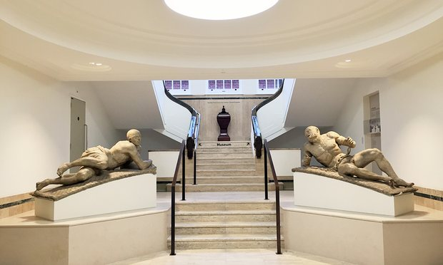 The statues Melancholy and Raving Madness by Caius Gabriel Cibber at the entrance to the Bethlem Museum of the Mind. Photograph: PR Image