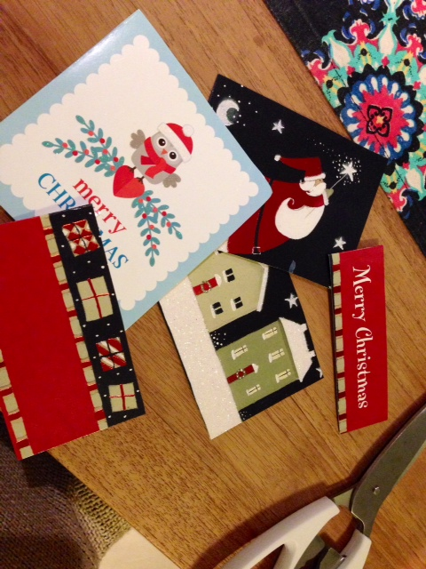 Easy Christmas card craft