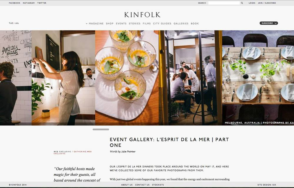 Kinfolk Madrid event 2014