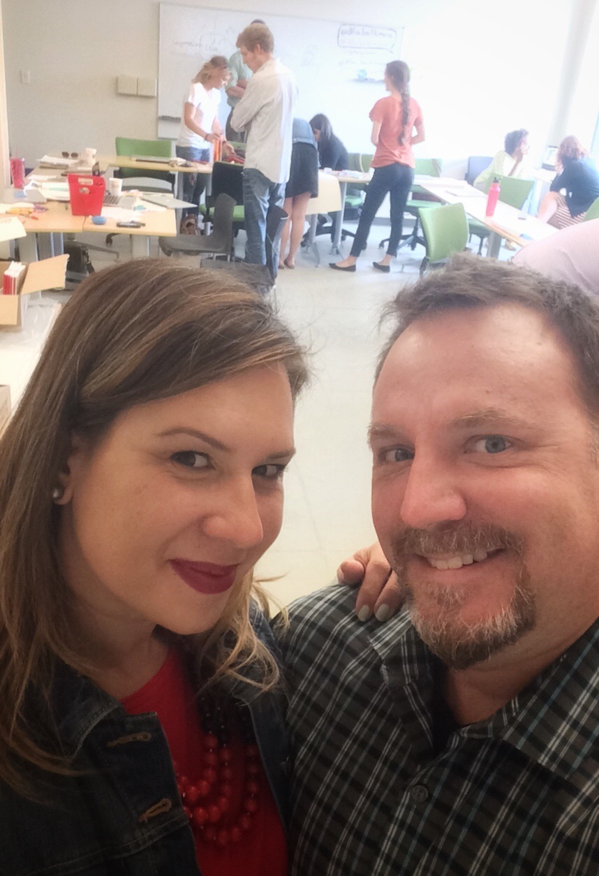 Design Thinking selfie. Brian and I truly enjoy leading these workshops together, and the students benefit from hearing our different viewpoints and approaches.