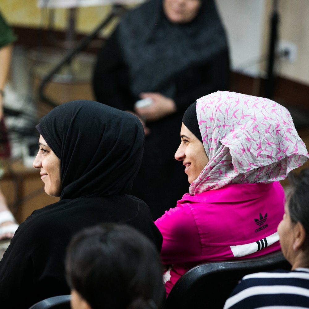 SOCIAL SUPPORT     One of the goals of offering weekly classes and events is to provide a place for women to find new social support through the groups. Not only are mentor relationships being formed, but so are friendships between refugee women. We believe this is key to their journey of healing.
