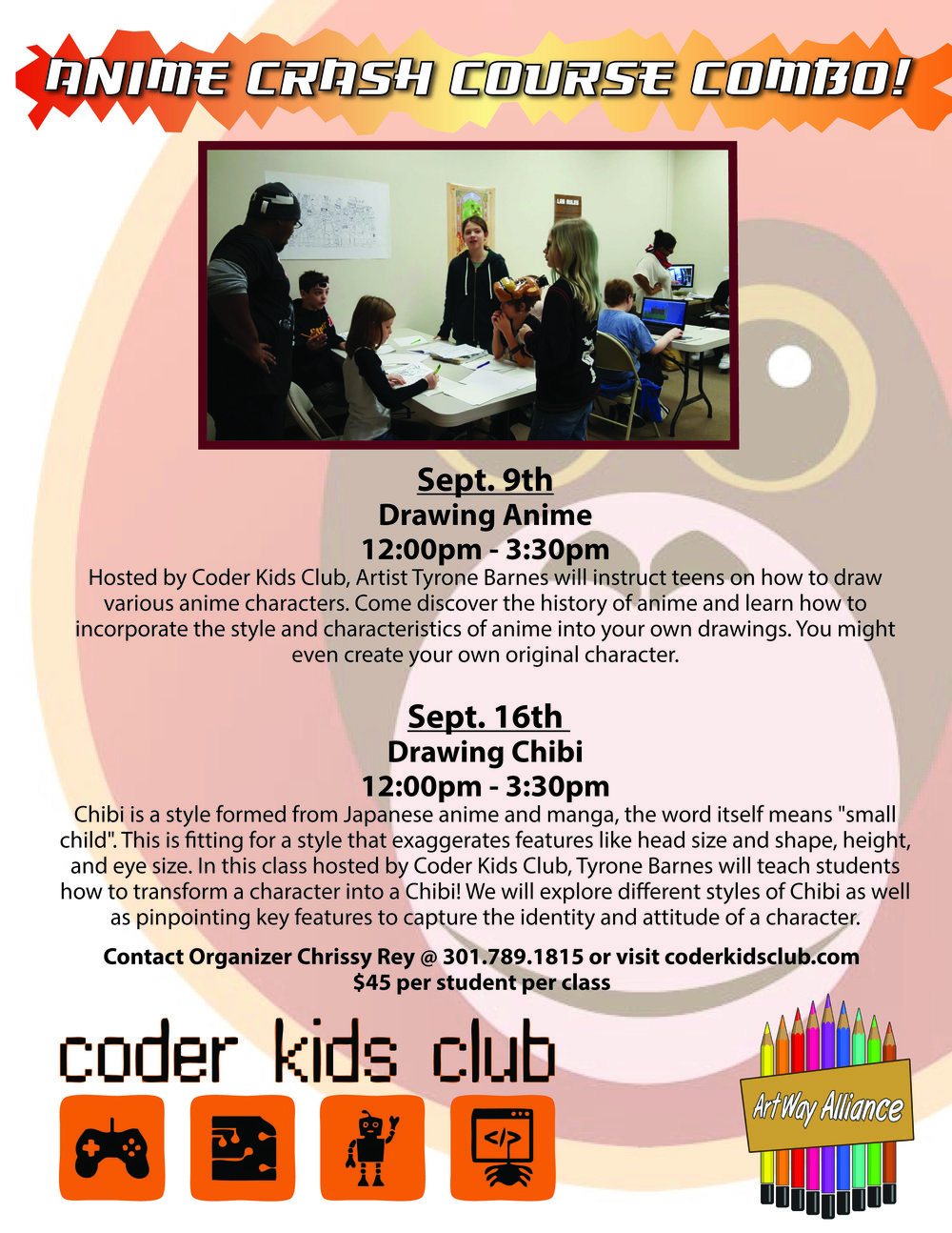 drawing chibi with coder kids club u2014 art way alliance