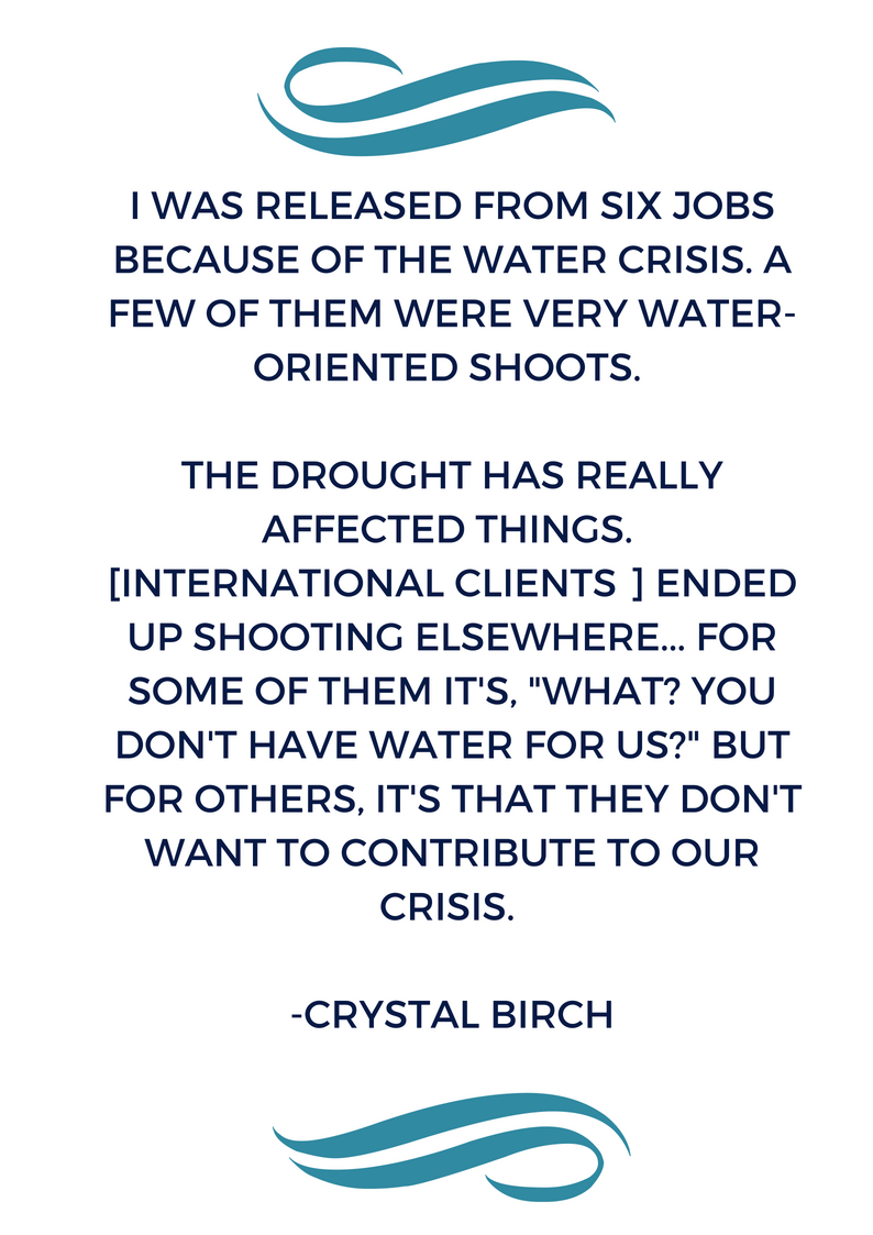 I was released from six jobs because of the water crisis. A few of them were water-oriented. [The international clients] said they didn't want to come here and use water that we didn't have.(3).jpg