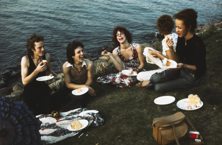 """Nan Goldin, """"Picnic on the Esplanade, Boston"""" (1973), Cibachrome print, 11 x 14 in. (27.9 x 35.6 cm) (courtesy of The Museum of Contemporary Art, Los Angeles, The Nimoy Family Foundation)"""