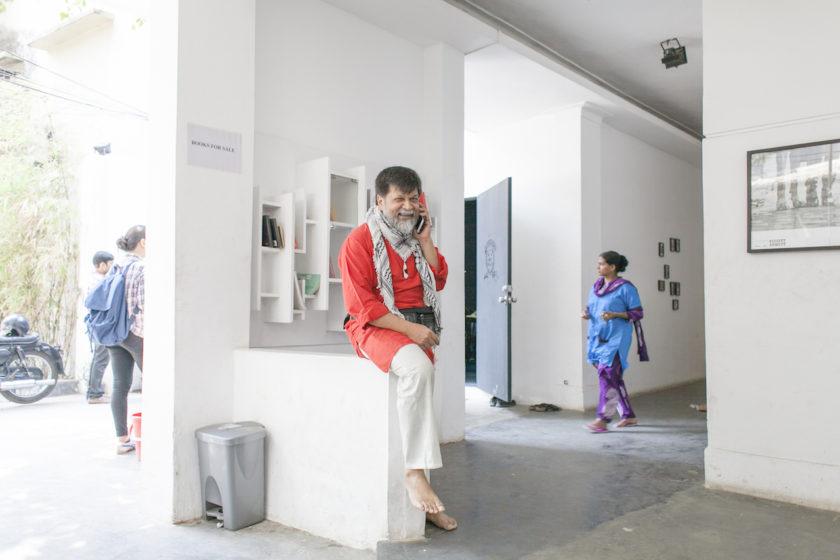Shahidul Alam pictured at the Pathshala South Asian Media Institute campus, image courtesy of Pathshala