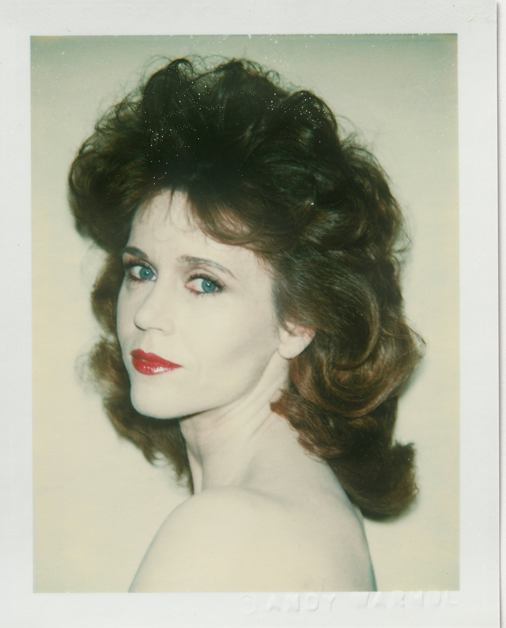 Jane Fonda, 1982 © 2018 The Andy Warhol Foundation for the Visual Arts, Inc. Licensed by DACS, London, courtesy BASTIAN, London © 2018 The Andy Warhol Foundation for the Visual Arts, Inc. Licensed by DACS, London, courtesy BASTIAN, London. From the exhibition Andy Warhol Polaroid Pictures at BASTIAN, London, 02 February – 13 April 2019, galeriebastian.com