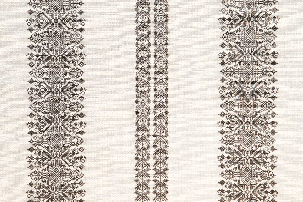 Abbot Atlas cycladic stripe stone fabric linen printed