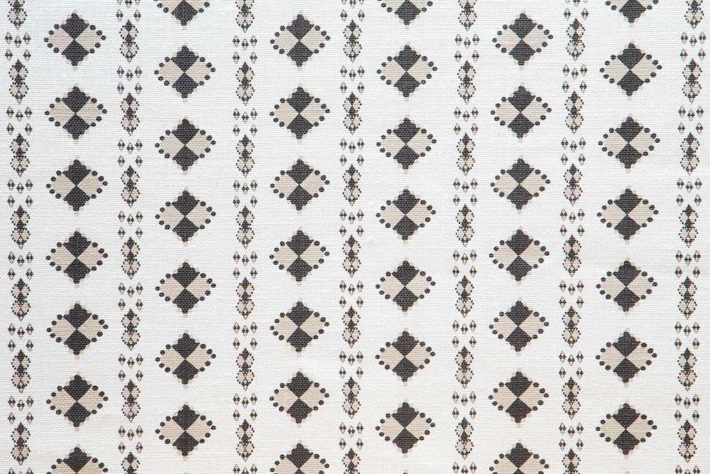Abbot Atlas karpathos diamond stone fabric linen printed