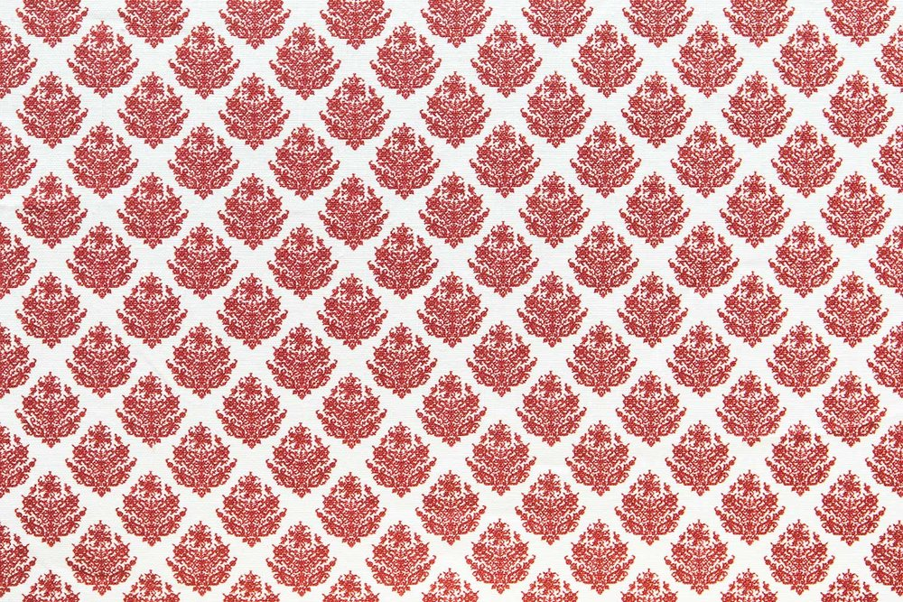 Abbot Atlas dixos red fabric linen printed