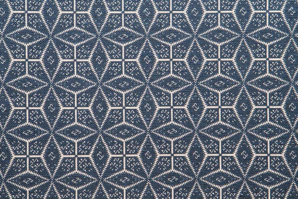 Abbot Atlas naxos blue fabric linen printed
