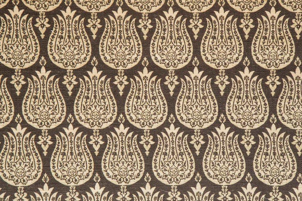 Abbot Atlas ottoman tulip stone fabric linen printed