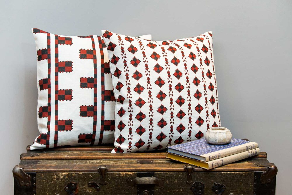 Abbot-Atlas-karpthos-diamond-ladder-pomagranite-fabric-linen-printed-pillow-cushion-truck.jpg