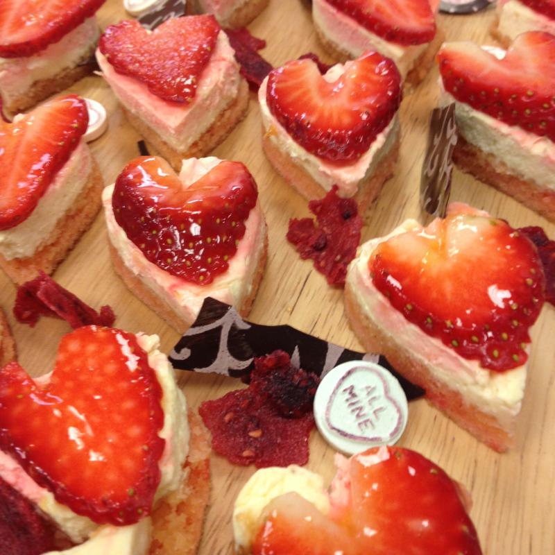 Valenteins strawberry tarts