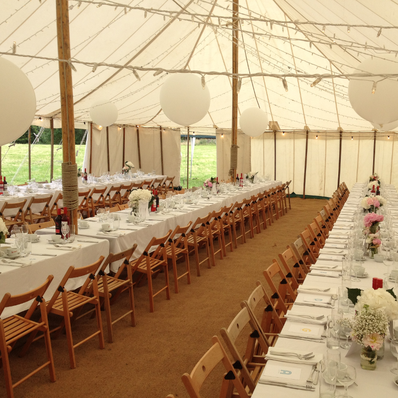 Marquee wedding in Sheffield