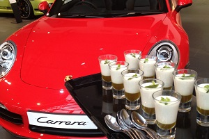 Canapes for an event with Porsche