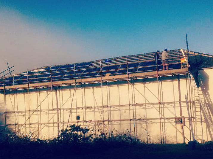 The installation of our solar panels at 54 staniforth road