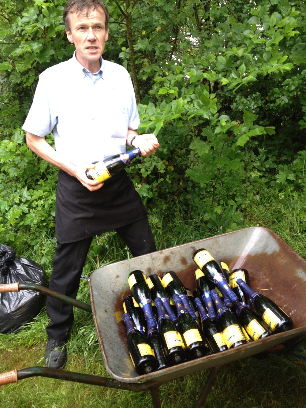 Slightly unconventional champagne delivery.JPG