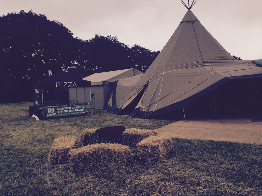 Totally Tipi tent ready for a wedding reception