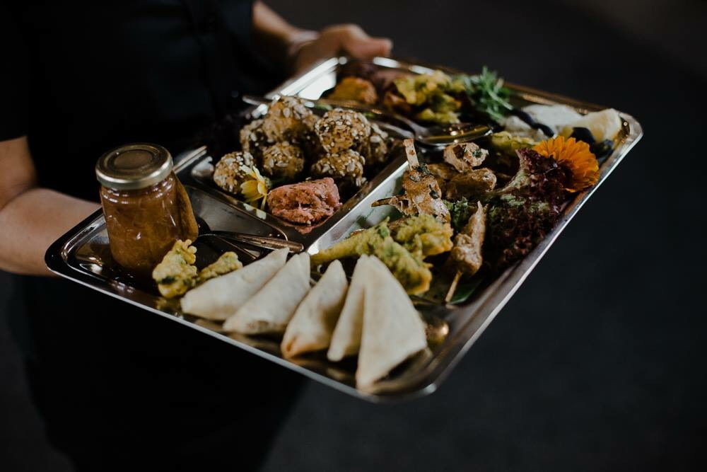 Indian style mezze selection