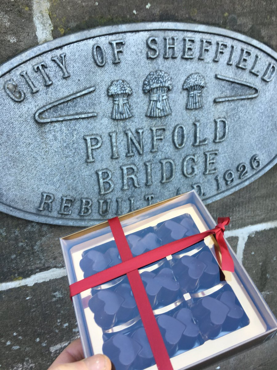 Heart shaped handmade truffles on Pinfold Bridge Sheffield