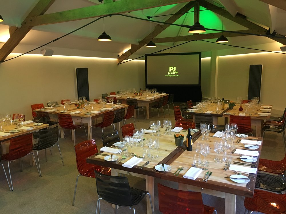 Fine dining layout in our private dining venue