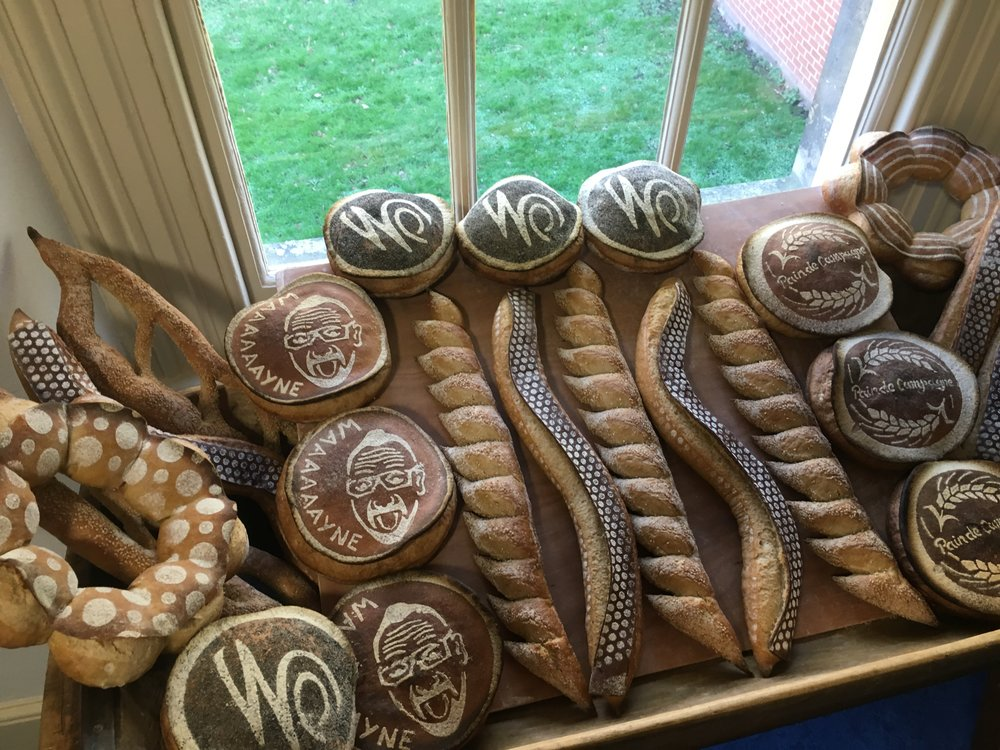 Presentation loaves prepared by students of the School of Artisan Food