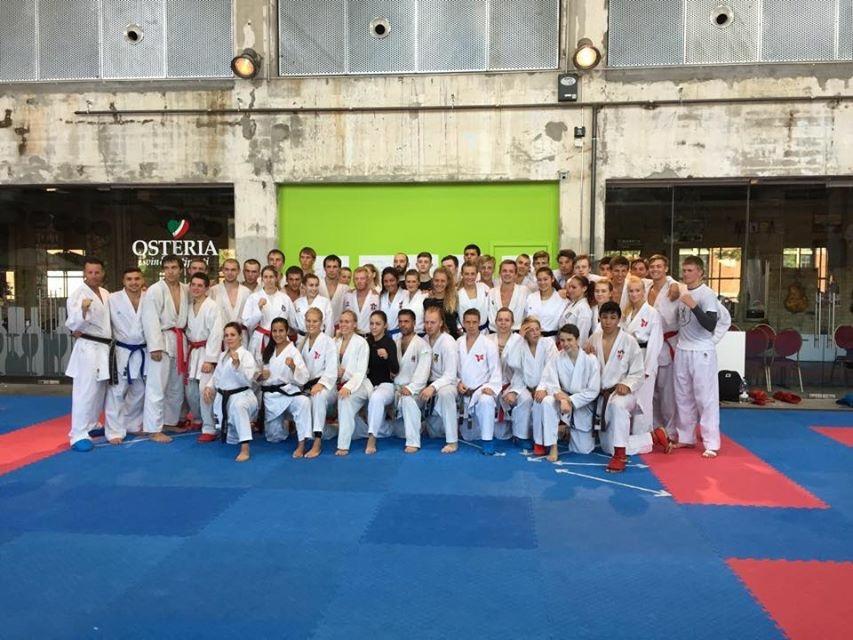 Senior/junior gruppen etter siste økt på søndagen.