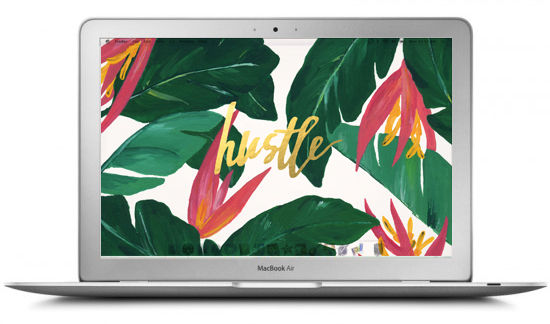 hustle-plante-verte-wallpaper