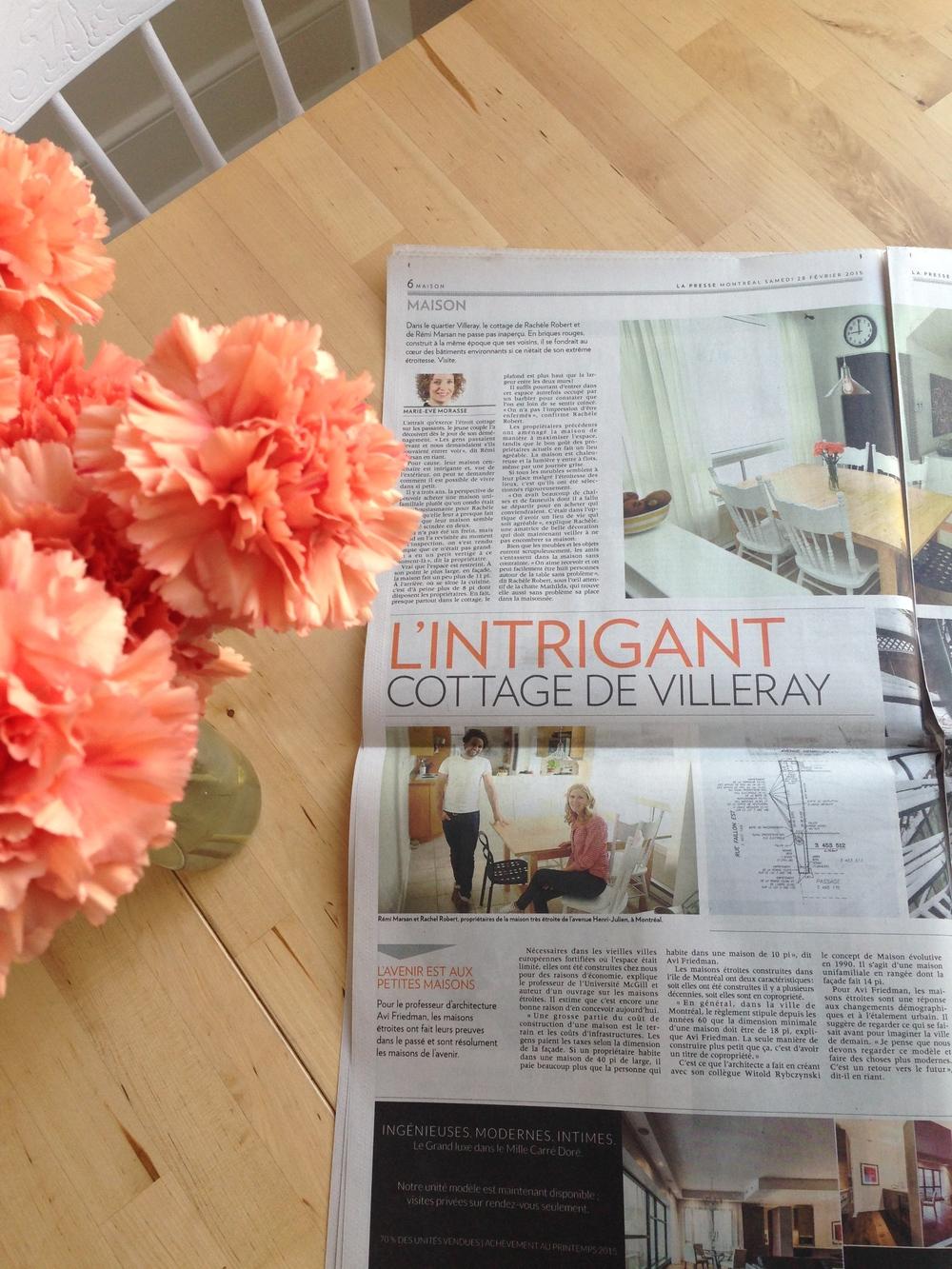 La mini-maison dans La Presse