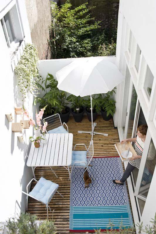 7 id es pour am nager votre balcon la mini maison - Tapis exterieur terras ikea ...