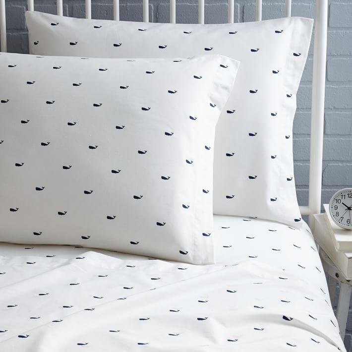 Des  draps à imprimé baleine , est-ce acceptable? Ou trop quétaine? :)
