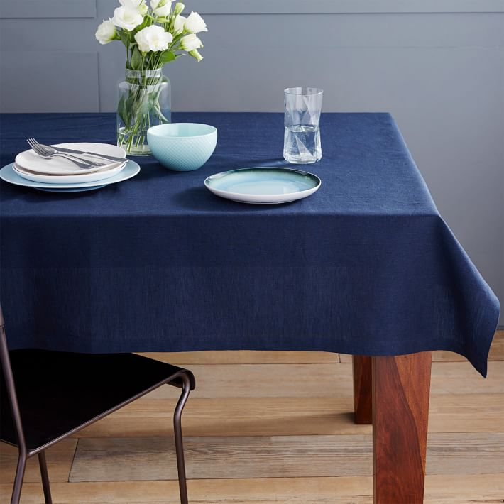 0 trouver de belles nappes 10 options la mini maison - Nappe bleu fonce ...